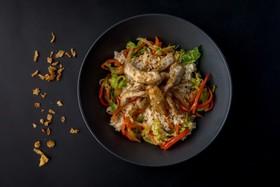 Рис со свининой и овощами - Фото