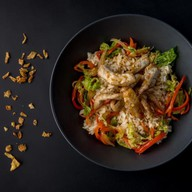 Рис со свининой и овощами Фото
