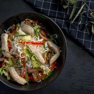 Лапша фунчоза со свининой и овощами Фото