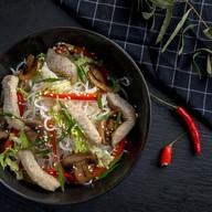 Фунчоза со свининой и овощами (острая) Фото