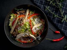 Фунчоза с цыплёнком и овощами (острая) - Фото