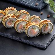Тунец с лососем в темпуре Фото