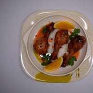 Куриная голень в медовом соусе Фото