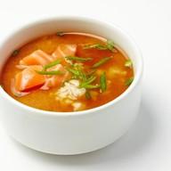 Мисо суп с рисом и лососем Фото