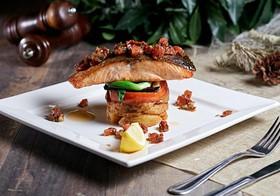Тальярен из лосося с картофелем, овощами - Фото