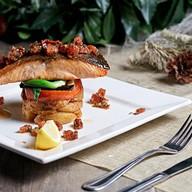 Тальярен из лосося с картофелем, овощами Фото