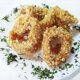 Кольца кальмара в хрустящей панировке - Фото