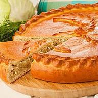 Пирог с горбушей и рисом (сдобный) Фото