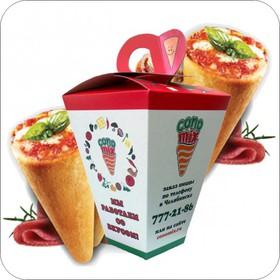 4 одинаковых коно-пиццы - Фото