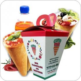 Коно-салат + коно-пицца + напиток - Фото
