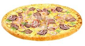 Пицца с говядиной - Фото