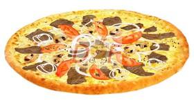 Пицца с телятиной и грибами - Фото