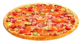 Пицца с охотничьими колбасками - Фото