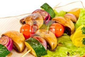 Барбекю с овощами и грибами - Фото