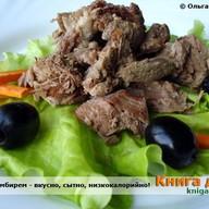 Мясо с мелконарезанным имбирем Фото