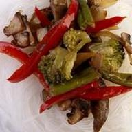 Фунчоза с овощами под соусом кинг Фото