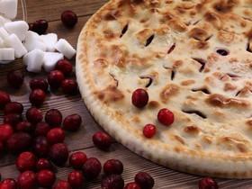 Осетинский пирог с грушей и вишней - Фото