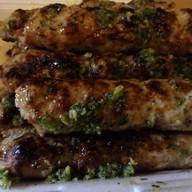 Люля-кебаб из курицы с чесноком, зеленью Фото