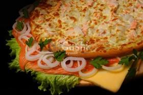 Пицца с лосоcем - Фото