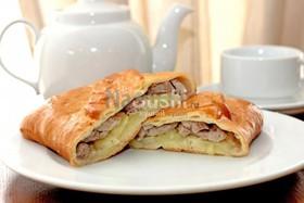 Пирог со свининой - Фото