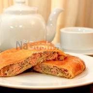 Пирог с курицей и грибами Фото