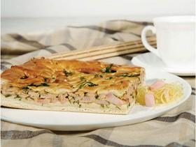 Пирог сдобный с ветчиной и сыром - Фото