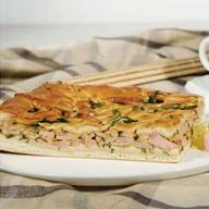 Пирог сдобный с ветчиной и сыром Фото