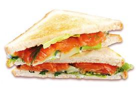 Клаб-сэндвич с лососем - Фото