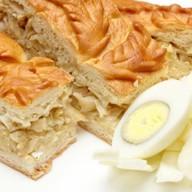 Пирог сдобный с капустой и яйцом Фото