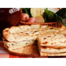Сладкий осетинский пирог с творогом - Фото