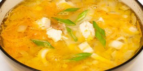 Суп лапша с курицей - Фото