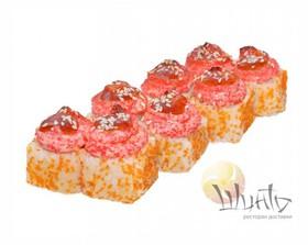 Запеченный микс-ролл с лососем - Фото