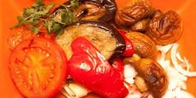 Барбекю с овощами и шампионами - Фото