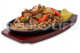 Морепродукты в соусе терияки - Фото