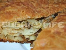 Слоеный картофель, грибы - Фото