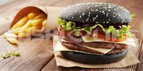 Black бургер - Фото