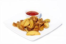 Картофельные дольки со специями - Фото