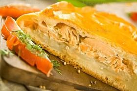 Пирог с рыбой и картофелем - Фото