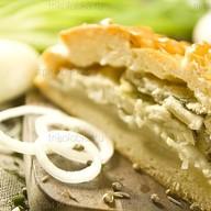 Пирог с рыбой и рисом Фото