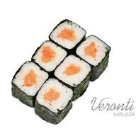 Хосомаки с копчёным лососем Фото