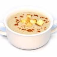 Суп-крем из грибов с гренками Фото