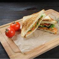 Сэндвич с красной рыбой Фото