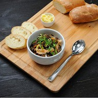 Каша из дикого риса с морепродуктами Фото