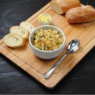 Каша из кус-кус с овощами в соевом соусе Фото