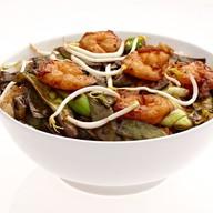 Жареные креветки с рисом Фото