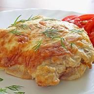 Шницель из куриной грудки в сырно Фото