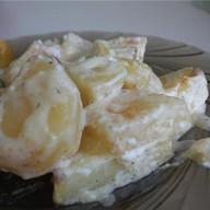 Картофель, томленный в сливках и Фото