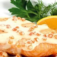 Филе лосося в сливочном соусе Фото