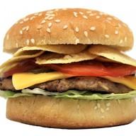 Чипс бургер Фото