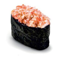 Спайси суши креветка Фото